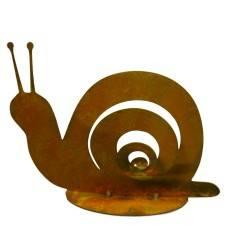 Rost Schnecke Gary auf Bodenplatte 10 cm