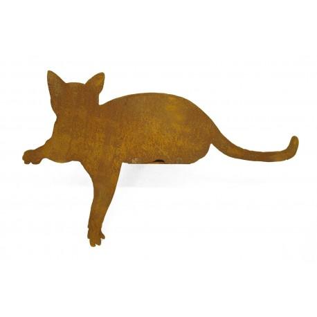 Gartendeko Rost Katze für Kante Pfote nach unten Edelrost