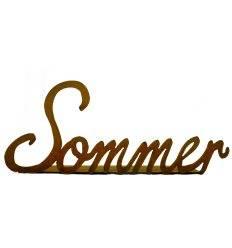 Schriftzug Sommer, vorne an Platte geschweißt
