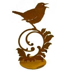 Vogel auf Barockelement auf Platte zum Stellen
