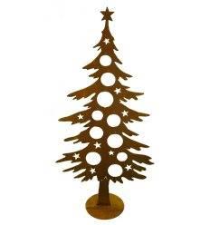 Dekotanne 125 cm hoch für Christbaumkugeln - Weihnachtsbaum Metall