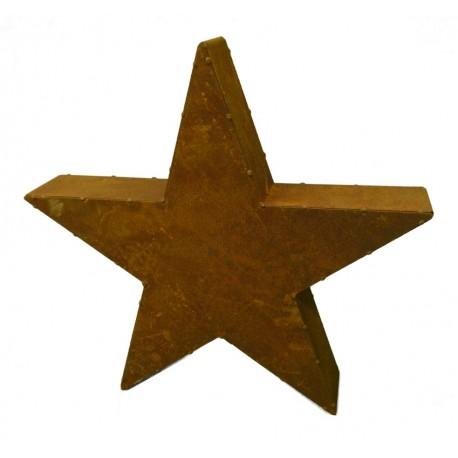 Edelrost Stern Moses 80 cm Ø -geschlossener Ster aus rostigem Metall