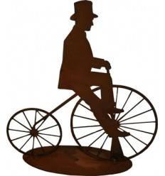 Fahrradfahrer -Nostalgie- 20 cm