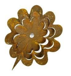 """Metallsatz """"Blume"""" für Holzstamm 13 cm"""
