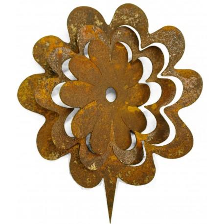 """Metallsatz """"Blume"""" für Holzstamm 23 cm"""