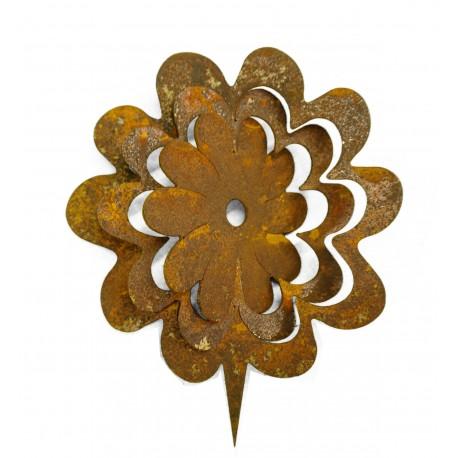 """Metallsatz """"Blume"""" für Holzstamm 18 cm"""