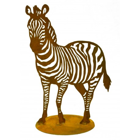 Exotische Rostdeko für draußen Motiv Zebra