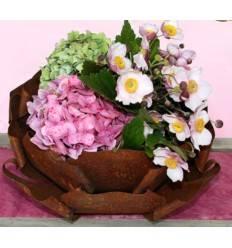 Edelrost Rosenblüte zum Bepflanzen - Durchmesser 35 cm