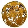 Edelrost Blumenkugel Ø 40 cm Kugel aus zusammengeschweisten rositgen Blumen