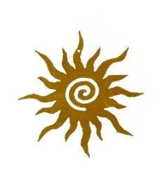 Osterschmuck Sonne