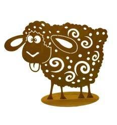 crazy Schaf auf Platte, Rost