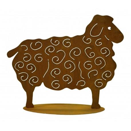Rost Schaf groß 56 x 70 cm auf Platte