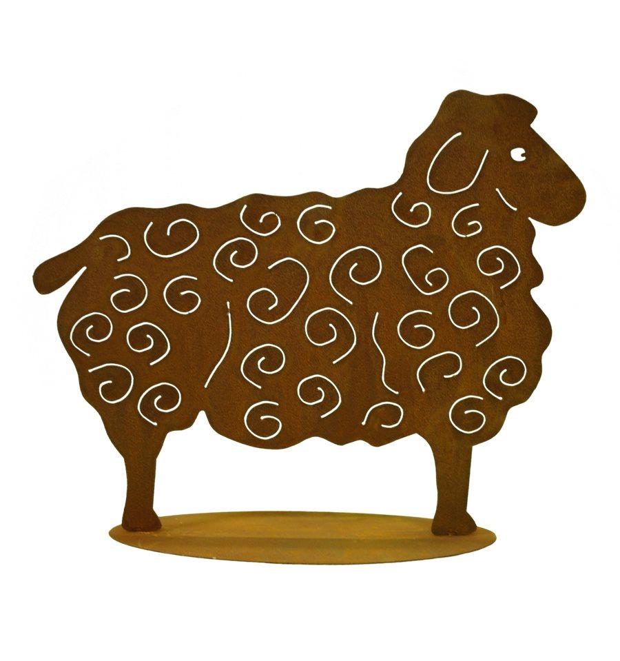 Schaf gro 56 x 70 cmbauernhoftiere metallmichl aus for Tiere aus metall gartendeko