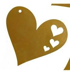 kleines Rost Herz z. Aufhängen Herz in Herz 8 cm