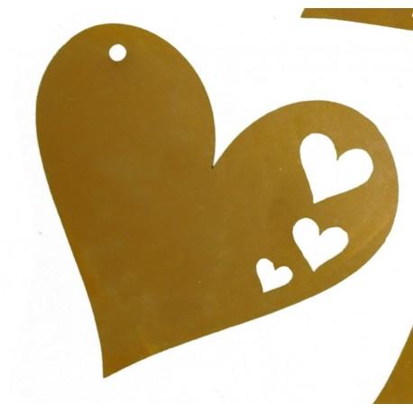 Osterschmuck Herz mit Ausschnitten
