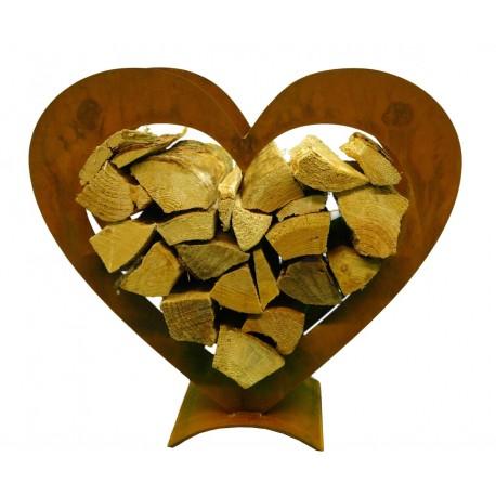 Edelrost herz holzregal kleine ausf hrung vom metallmichl for Herz aus rost