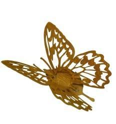 """""""Farfalla"""" Schmetterling Windlichthalter auf Platte, Breite 30 cm"""