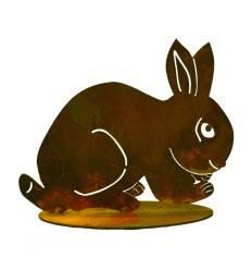 Kaninchen geduckt groß 25 cm breit