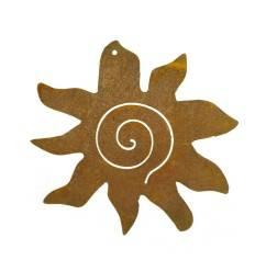Crazy Sun zum Aufhängen - Edelrost Sonne Ø 15 cm