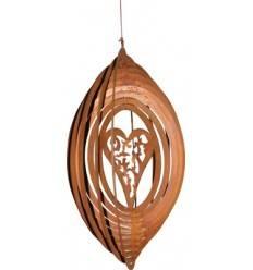 Windspiel -Herz Madera-