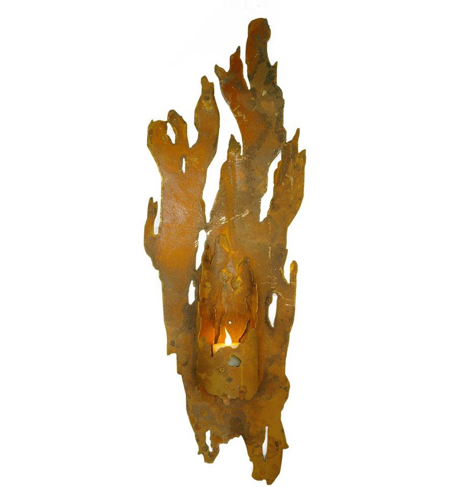 edelrost wandlicht fackel f r kerzen vom metallmichl. Black Bedroom Furniture Sets. Home Design Ideas