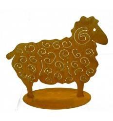 Rost Schaf klein auf Platte
