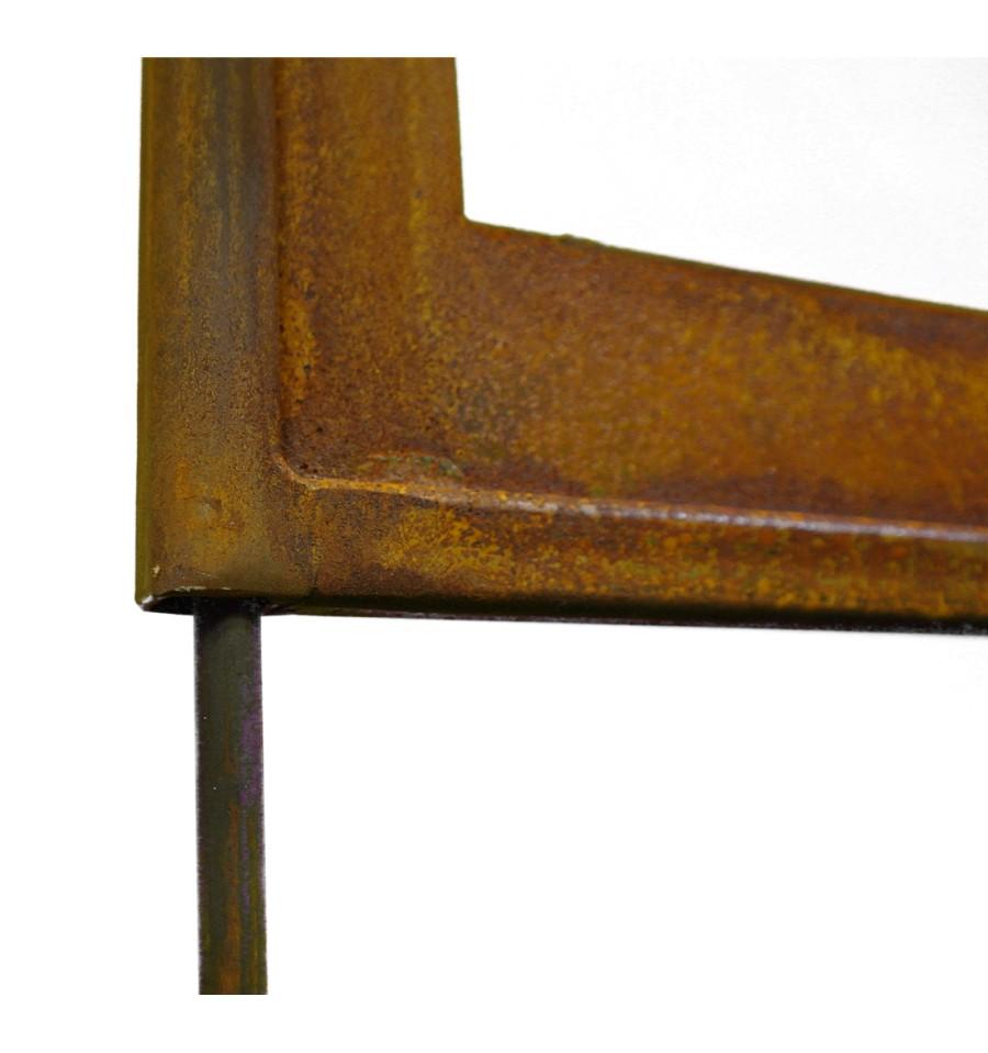 Edelrost katzen paravent 2 meter hoch aus stabilem 3 mm stahl - Sichtschutzwande aus stein ...