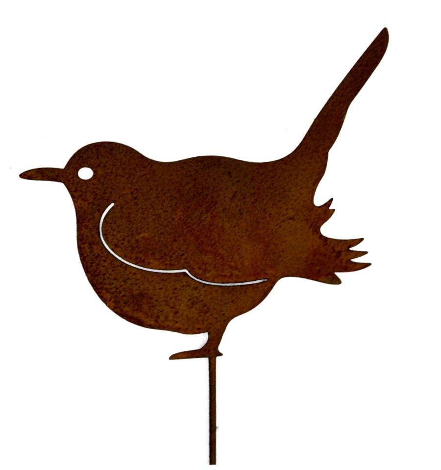 Rost vogel spatz gartenstecker for Gartendeko metall rostig