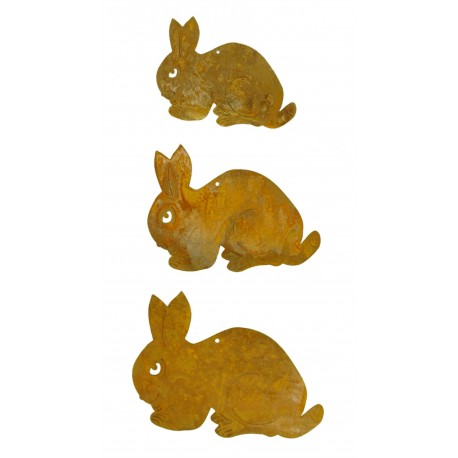 3 tlg. Kaninchenkette geduckt