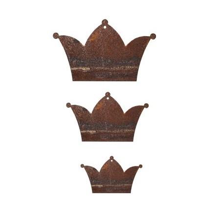 3 tlg. Kronenkette Edelrost Krone zum basteln