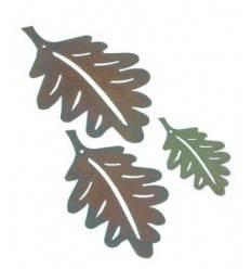 3 tlg. Eichenblattkette- Herbstblätter Deko zum Hängen - Höhe 9-18 cm
