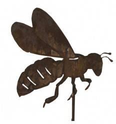 Biene auf Stab - Bienenstecker mit langem 1 m Stab