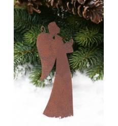 5 tlg. Set Edelrost Weihnachtsbaumanhänger - Christbaumschmuck Set ungefädelt
