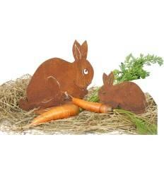 Hase / Kaninchen geduckt klein 11 cm hoch