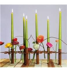 """Tischdeko Kerzenständer """"Blumen"""" - Länge 64 cm"""