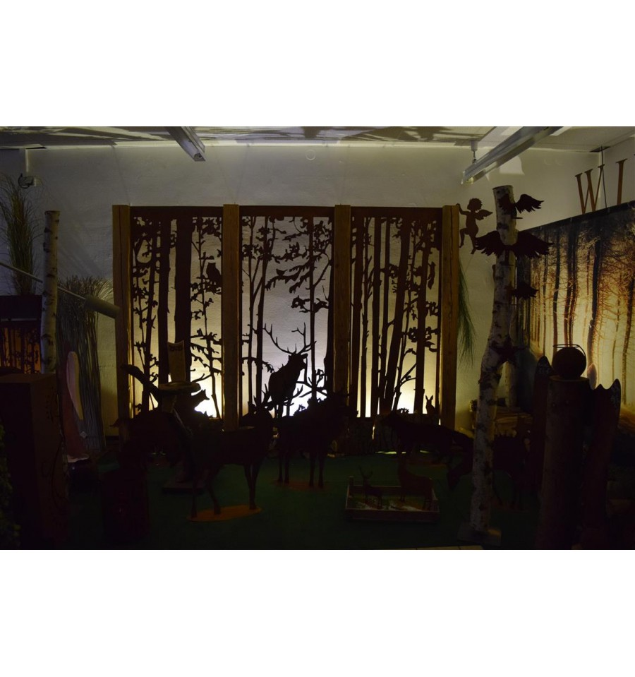 wild paravent hirsch 200 x 90 cm vom metallmichl. Black Bedroom Furniture Sets. Home Design Ideas