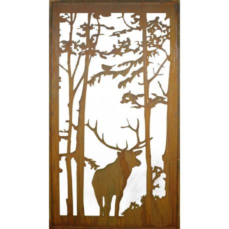 Wild paravent hirsch 200 x 90 cm vom metallmichl - Sichtschutzwande aus stein ...