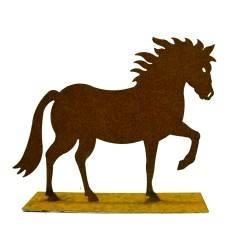 """Mini Pferd """"Cavallo"""" auf Platte 15 cm"""