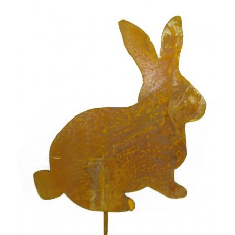 Rost Mini Hase 20 cm auf Stab Gartenstecker Osterhase