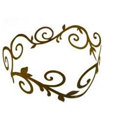flacher Ornamentring 30 cm für Vasen / Windlichter / Schalen