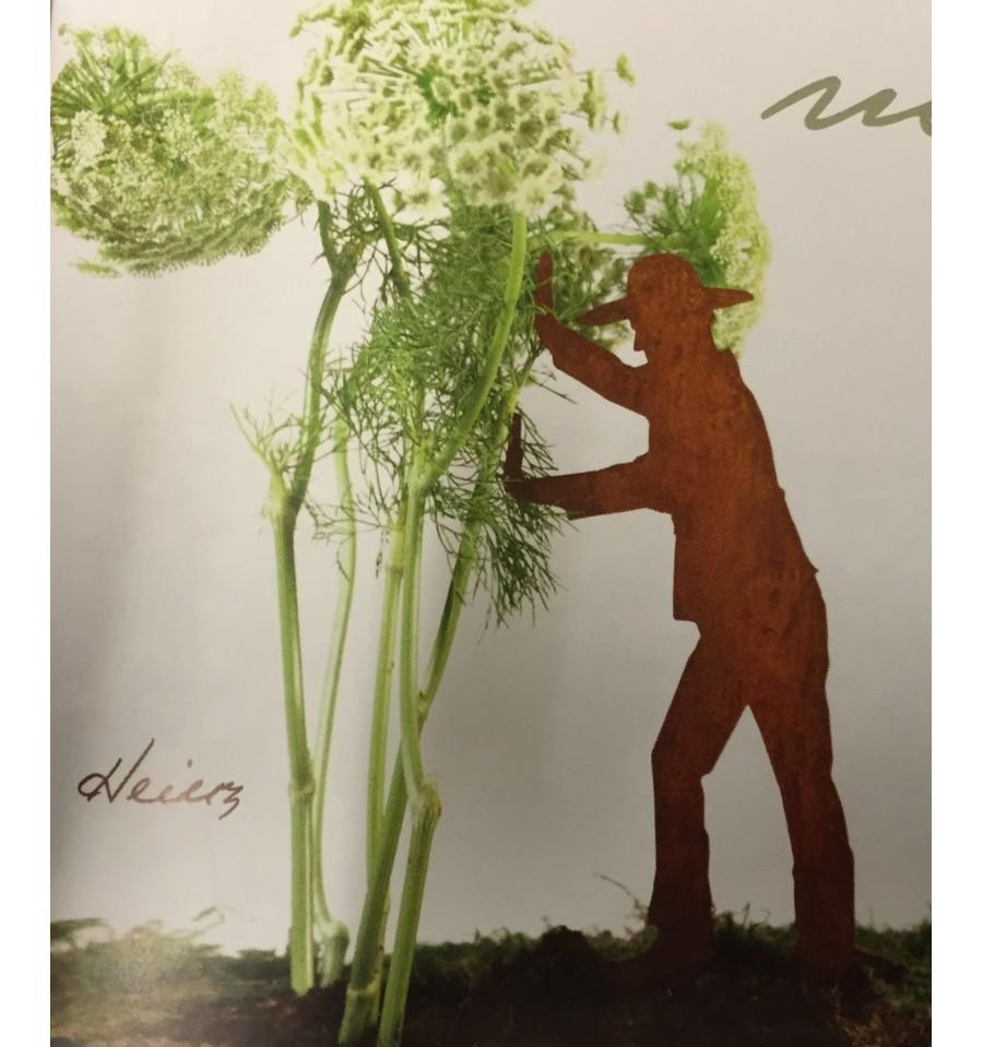 Edelrost g rtner heinz pflanzenhalter mit stecker 30 cm for Wohndesign sera