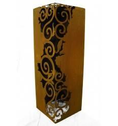 Rost Säule Venezia 1,2 m hoch 30 x 30 cm - Barock Deko
