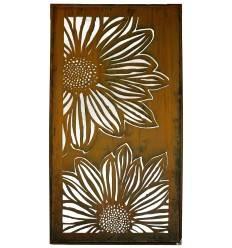 Sichtschutzwand Motiv Blume Gerbera geschlossen 200 cm hoch