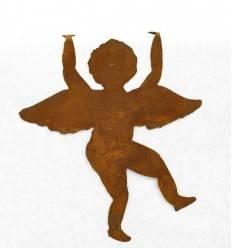 Engelsputte zum Einhängen Edelrost, Höhe 20 cm (klein), Engel Putte