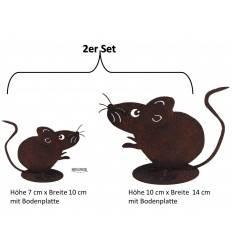 Rost Maus 2 er Set (auf Platte zum hinstellen)