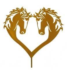 Gartenstecker Pferde-Herz
