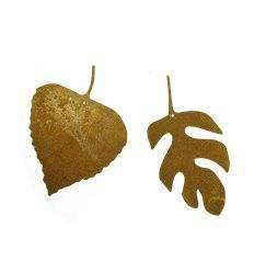 2 tlg. Herbstblatt zum Aufhängen 7 cm Ø