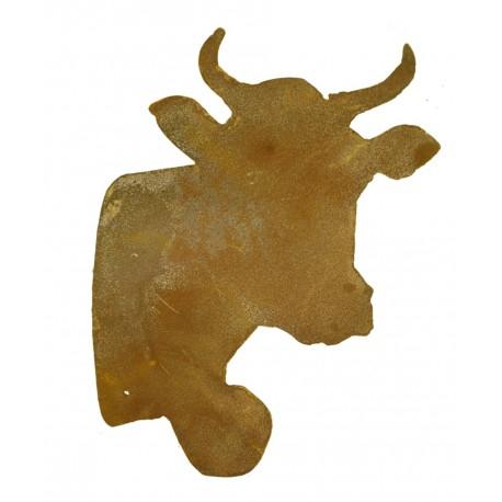 Rostiger Kuh Kopf zum Einarbeiten 21 cm für Gestecke