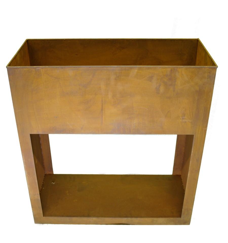 pflanzkasten mit fach f r holzbef llung unten deko holzregal kaufen. Black Bedroom Furniture Sets. Home Design Ideas