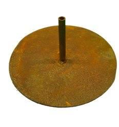 Platte Ø 22 cm mit Rohr 12 cm - Standplatte für Gartenstecker